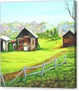 Tobacco Barns North Carolina Canvas Print