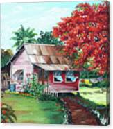 Tobago Country House Canvas Print