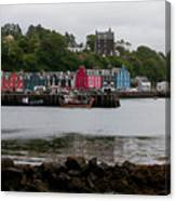 Tobermory Town Cityscape, Isle Of Mull Canvas Print