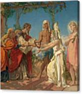 Tobias Brings His Bride Sarah To The House Of His Father Tobit Canvas Print