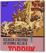 Tobruk Theatrical Poster 1967 Color Added 2016 Canvas Print