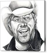 Toby Keith Canvas Print
