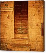 Todi Italy Medieval Door  Canvas Print