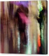 Together Under An Umbrella Canvas Print