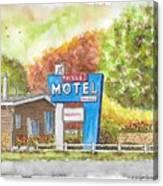Toiyabe Motel In Walker, California Canvas Print