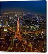 Tokyo At Night Canvas Print