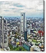 Tokyo City View Canvas Print
