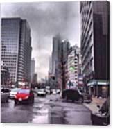 Tokyo Cloudy Canvas Print