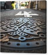 Tokyo Sewer Cover Canvas Print