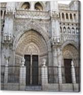 Toledo Cathedral Face To Face Canvas Print