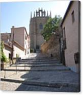 Toledo Steps To Cathedral Canvas Print