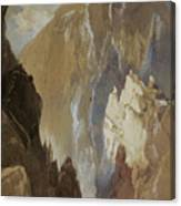 Toltec Gorge And Eva Cliff From The West, Colorado, 1892 Canvas Print