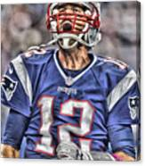 Tom Brady Art 5 Canvas Print
