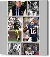 Tom Brady Football Goat Canvas Print