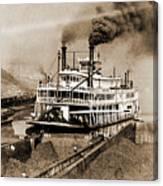 Tom Greene River Boat Canvas Print