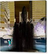 Tom Mccall Waterfront Fountain Canvas Print