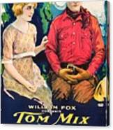 Tom Mix In Treat'em Rough 1919 Canvas Print