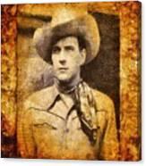 Tom Tyler, Vintage Western Actor Canvas Print