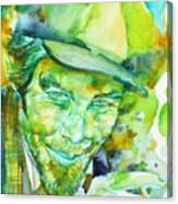 Tom Waits - Watercolor Portrait.5 Canvas Print