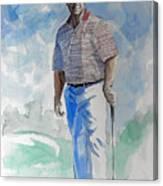 Tom Watson In Dubai Canvas Print
