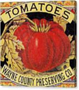 Tomato Can Label Canvas Print