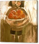 Tomato Girl Canvas Print