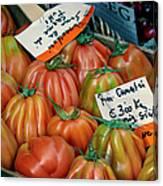 Tomatoes At Market Canvas Print