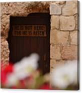 Tomb Of Jesus Canvas Print