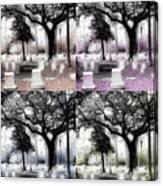 Tomb Stones Of Many Prayers Canvas Print