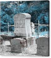Tombstone Amiss Canvas Print