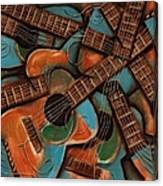 Tommervik Abstract Guitars Art Print Canvas Print