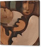 Abstract Mother And Baby Art Print Canvas Print