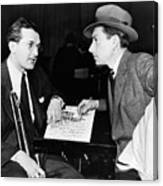 Tommy Dorsey And Hoagy Carmichael, 1939 Canvas Print