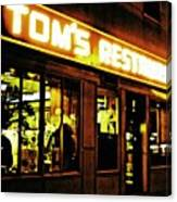 Tom's Restaurant Canvas Print