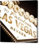Tonight In Vegas Canvas Print