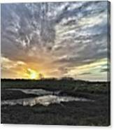 Tonight's Sunset From Thornham Canvas Print