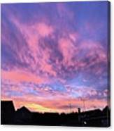Tonight's Sunset Over Tesco :) #view Canvas Print