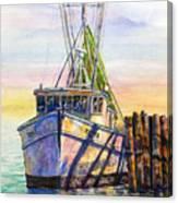 Tonyo Shrimp Boat Canvas Print