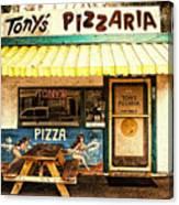 Tony's Pizzaria Canvas Print