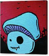 Toothed Zombie Mushroom 2 Canvas Print
