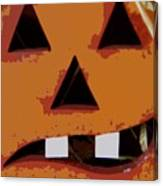 Toothy Pumpkin Canvas Print