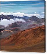 Top Of Haleakala Crater Canvas Print