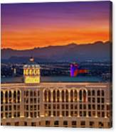 Top Of The Bellagio After Sunset Canvas Print
