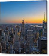 Top Of The Rock At Sunset Canvas Print