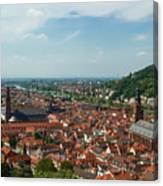 Top View Of Heidelberg, Germany. Canvas Print