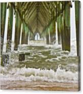 Topsail Island Pier Canvas Print