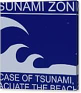 Topsail Island's Tsunami Zone Sign Canvas Print