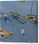 Topsail Swing Bridge Canvas Print