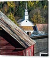 Topsham Village Vermont Canvas Print