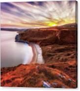 Tor Bay Sunset Canvas Print